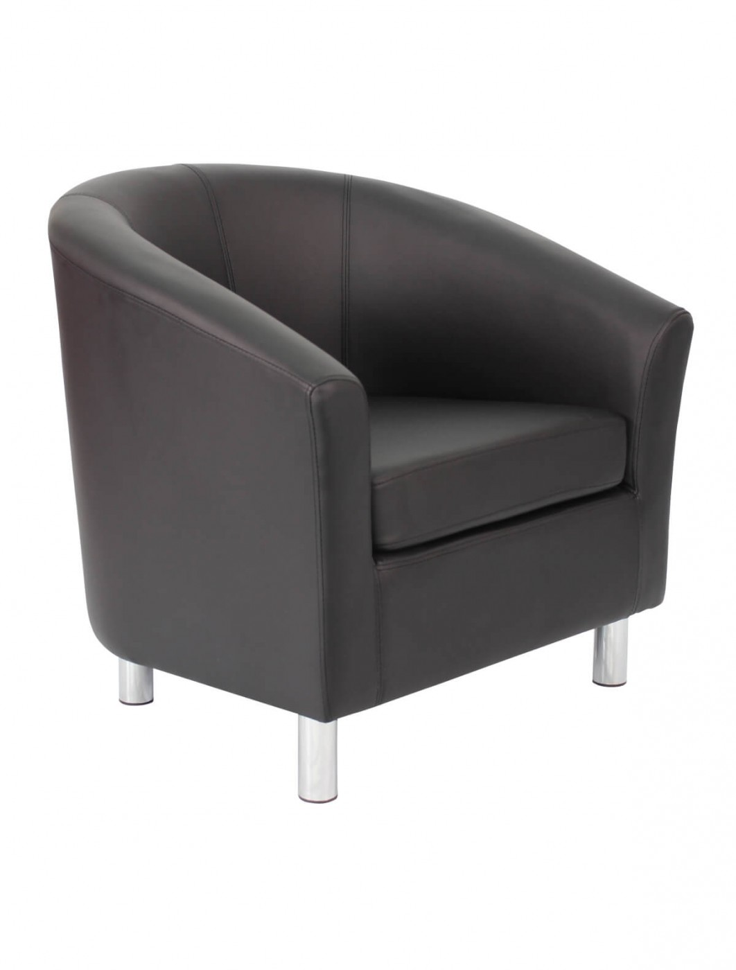 Armchair - PU Leather Tub Chair OF2201ML Reception Chairs - enlarged view