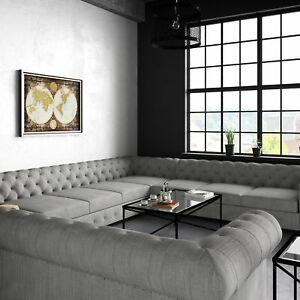 Image is loading Moser-Bay-Furniture-Garcia-Tufted-Linen-U-shaped-