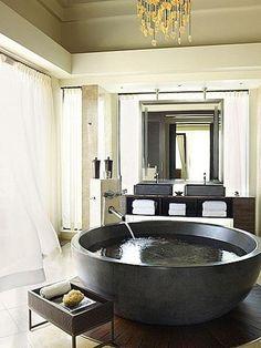 Unique bathroom Beautiful Bathrooms, Dream Bathrooms, Luxury Bathrooms,  Luxury Bathtub, Bathtub Dream