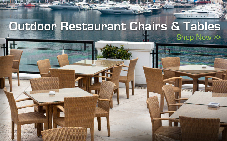 Outdoor Restaurant Chairs & Tables