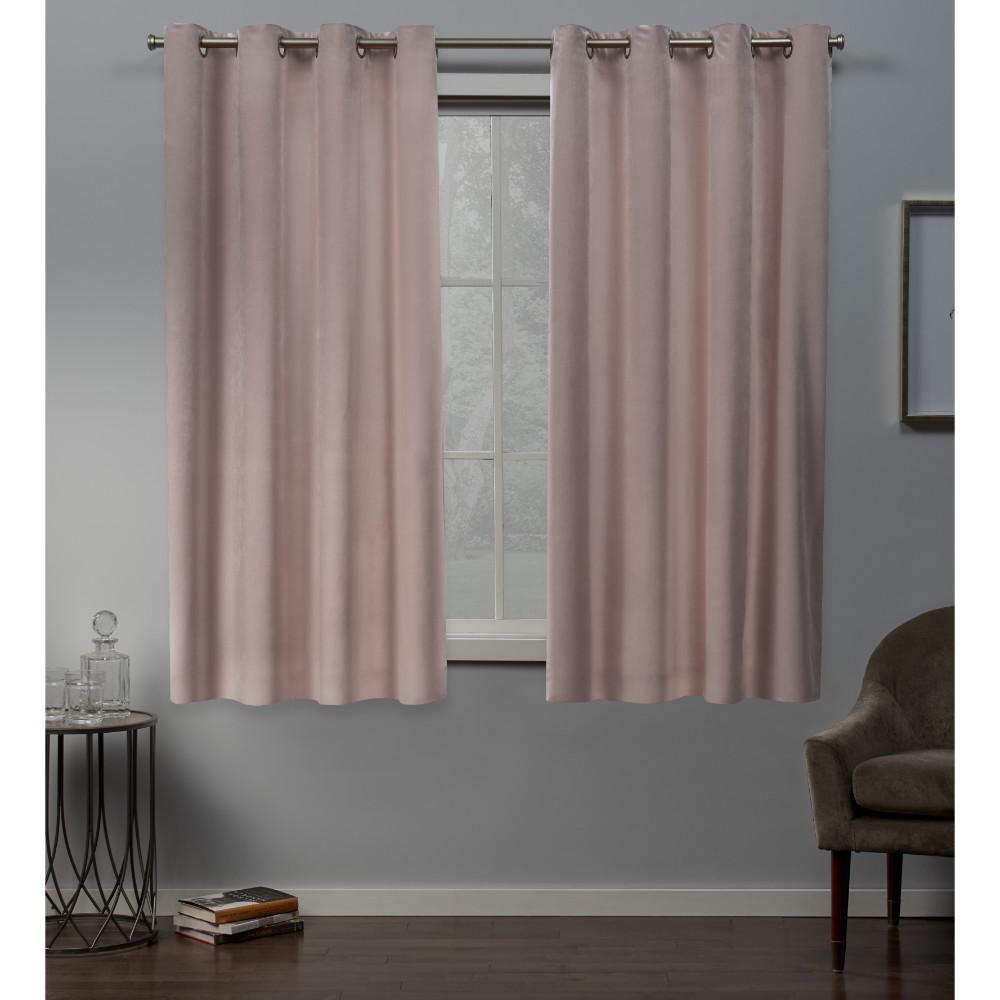 Exclusive Home Curtains Velvet 54 in. W x 63 in. L Velvet Grommet Top