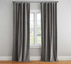Velvet Twill Curtain - Flagstone