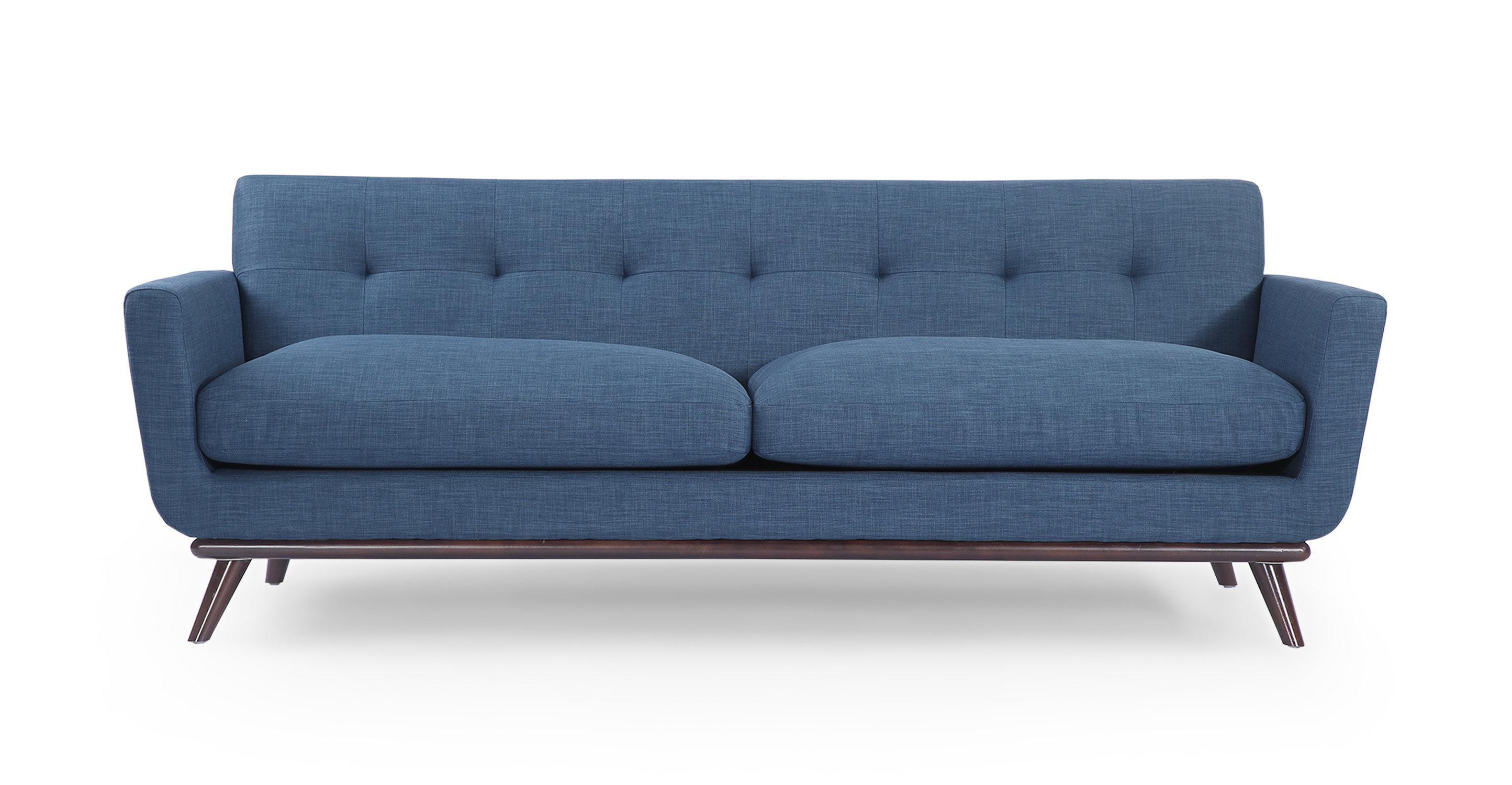 Corrigan Studio Luther Mid Century Modern Vintage Sofa with Wood Legs &  Reviews   Wayfair