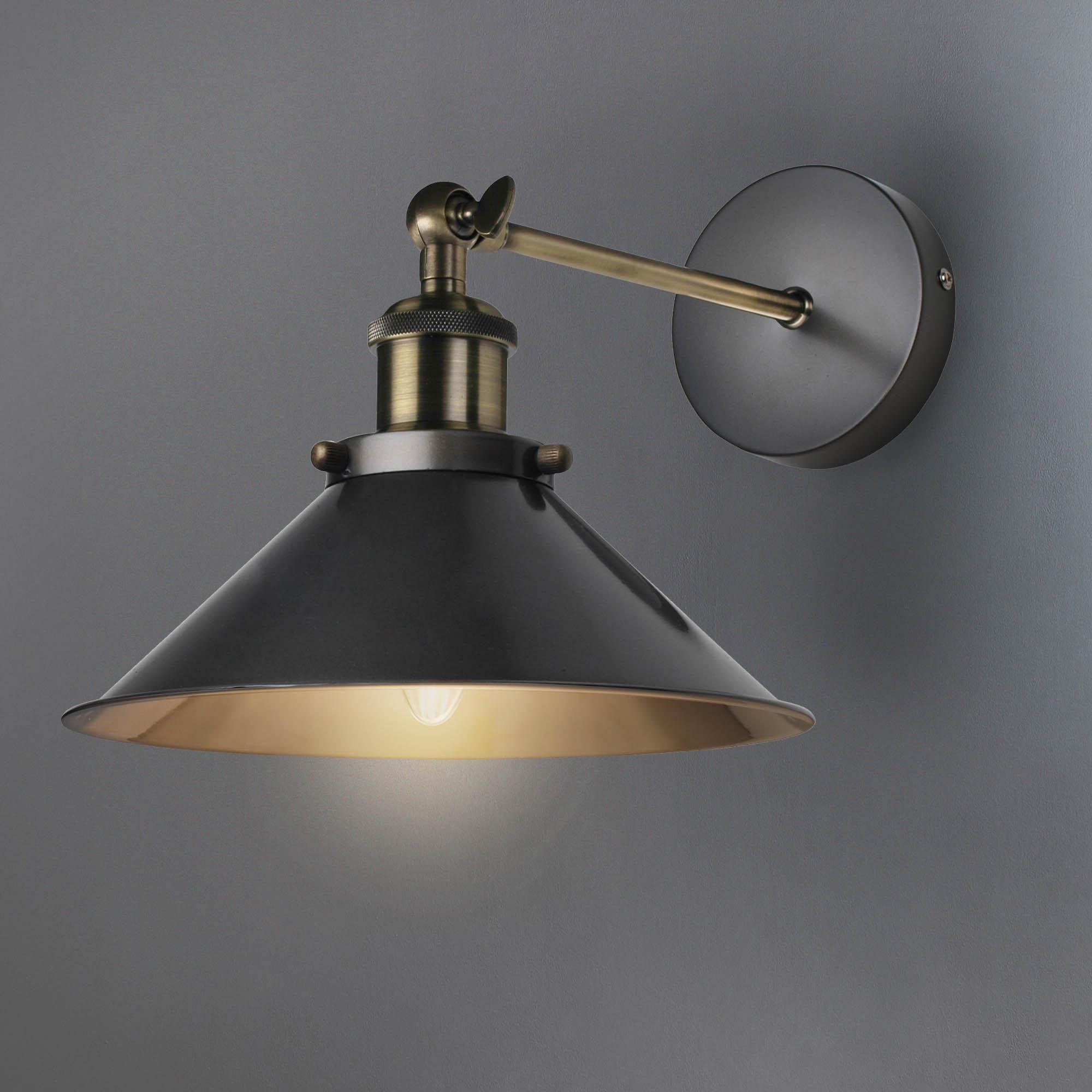 Logan Black Wall Light