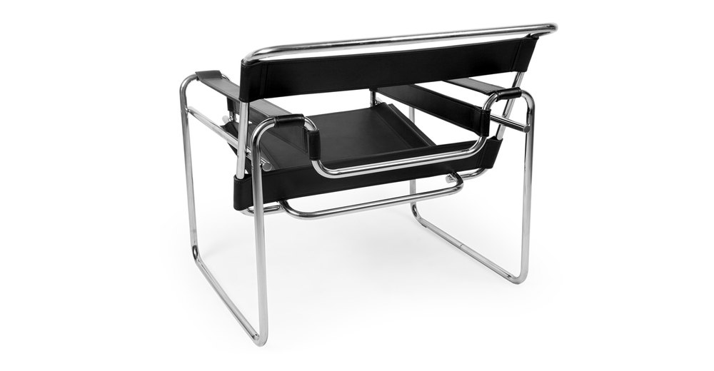 Wassily Chair, Black Leather