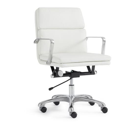 Nash Swivel Desk Chair · Statesville Molasses · Vintage Graphite · Caramel  · White