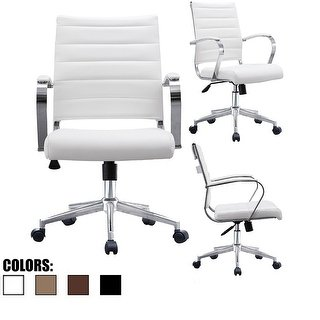 Buy White, Leather Office & Conference Room Chairs Online at Overstock |  Our Best Home Office Furniture Deals