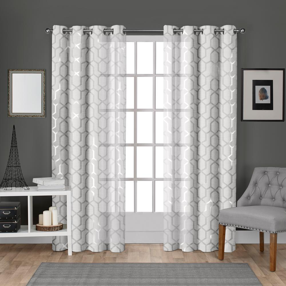 L Sheer Grommet Top Curtain Panel in