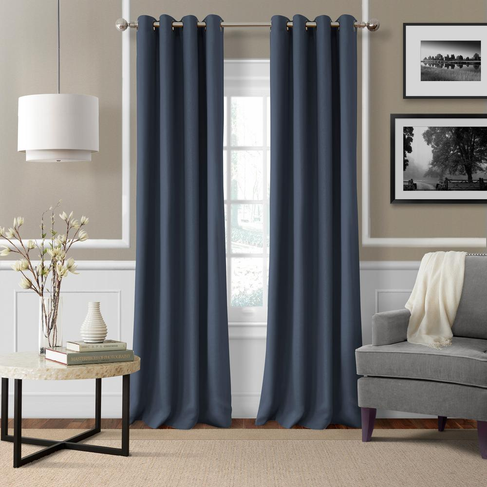 Elrene Essex Solid Light Filtering Window Curtain