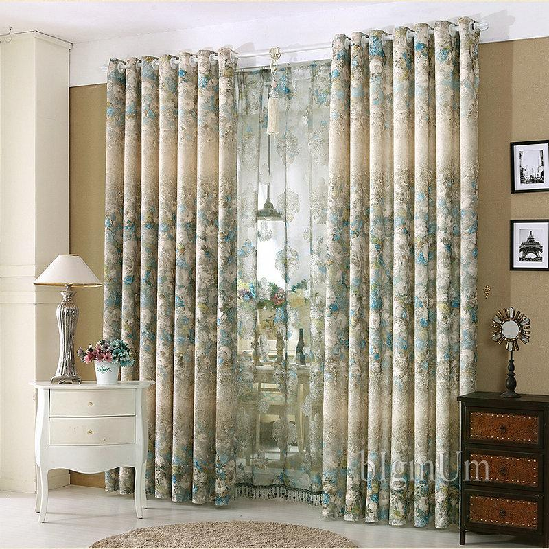 Luxury Window Curtains For Living Room/Bedroom / Hotel Printed & Jacquard  Flowers Drapes Blackout Window Treament From Bigmum, $19.48 | Traveller Location