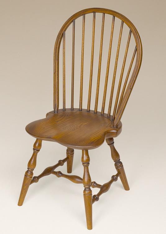 Oak Bow-Back Side Windsor Chair Image