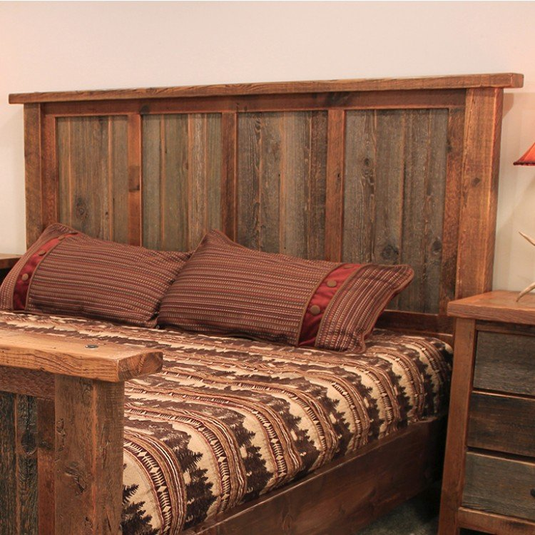 Wyoming Reclaimed Barn Wood Headboard. Tap to expand