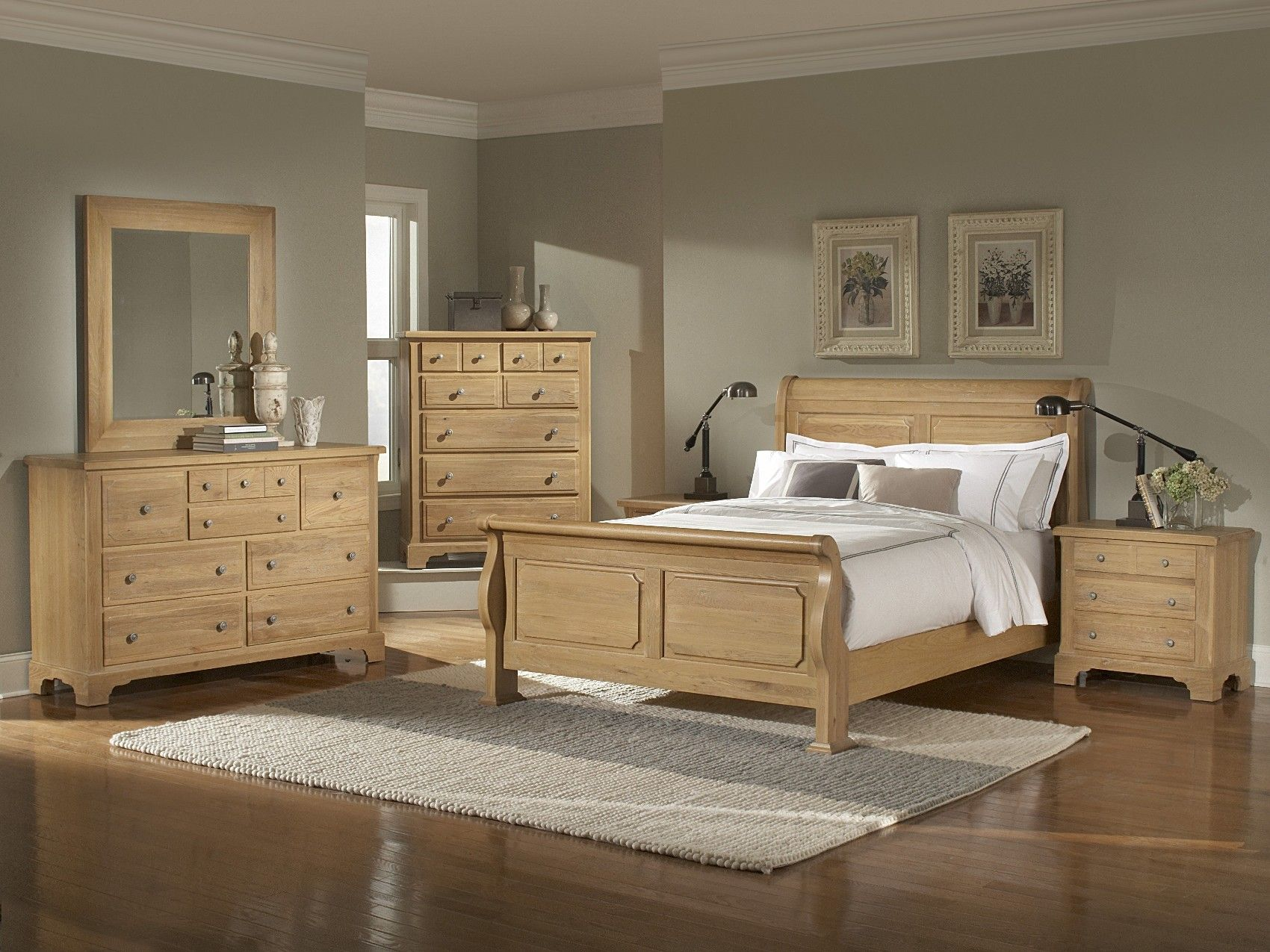 oak bedroom furniture sets |  Washed Oak Queen Sleigh Bedroom Group A at  NC Furniture Best Buys