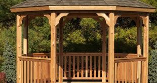 12 Ft. W x 12 Ft. D Solid Wood Patio Gazebo