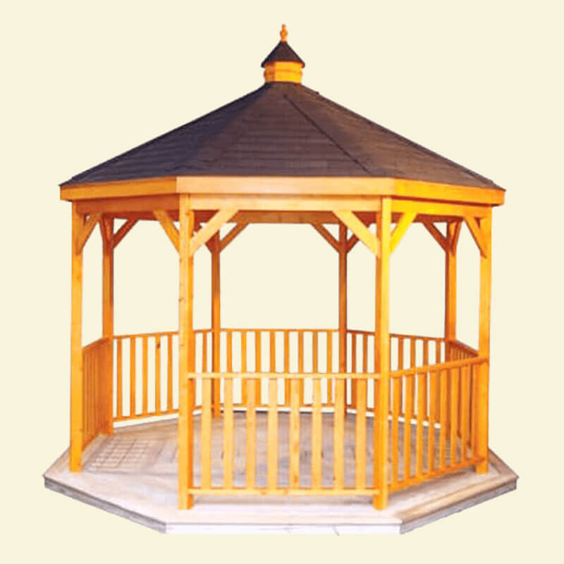 12 Foot Wood Gazebo-in-a-Box