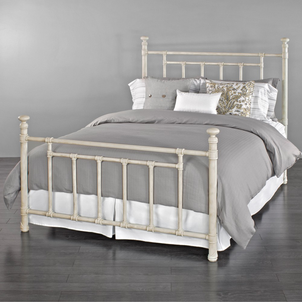 Blake Iron Bed by Wesley Allen - Rustic Ivory Finish