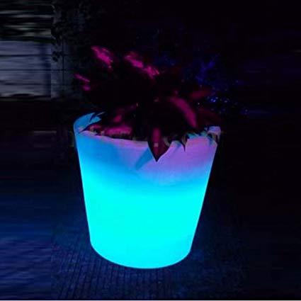 glowing led flower pots, plant pots - changeable colors, rgb colors led HYSRDVT