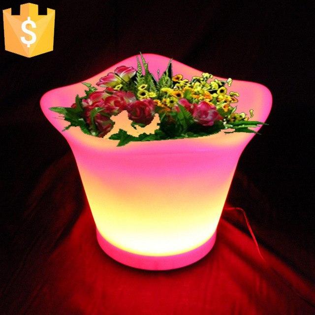 glowing lighting led flower pots rgb led flower pot ,led round vase,led beer UXYPJWP
