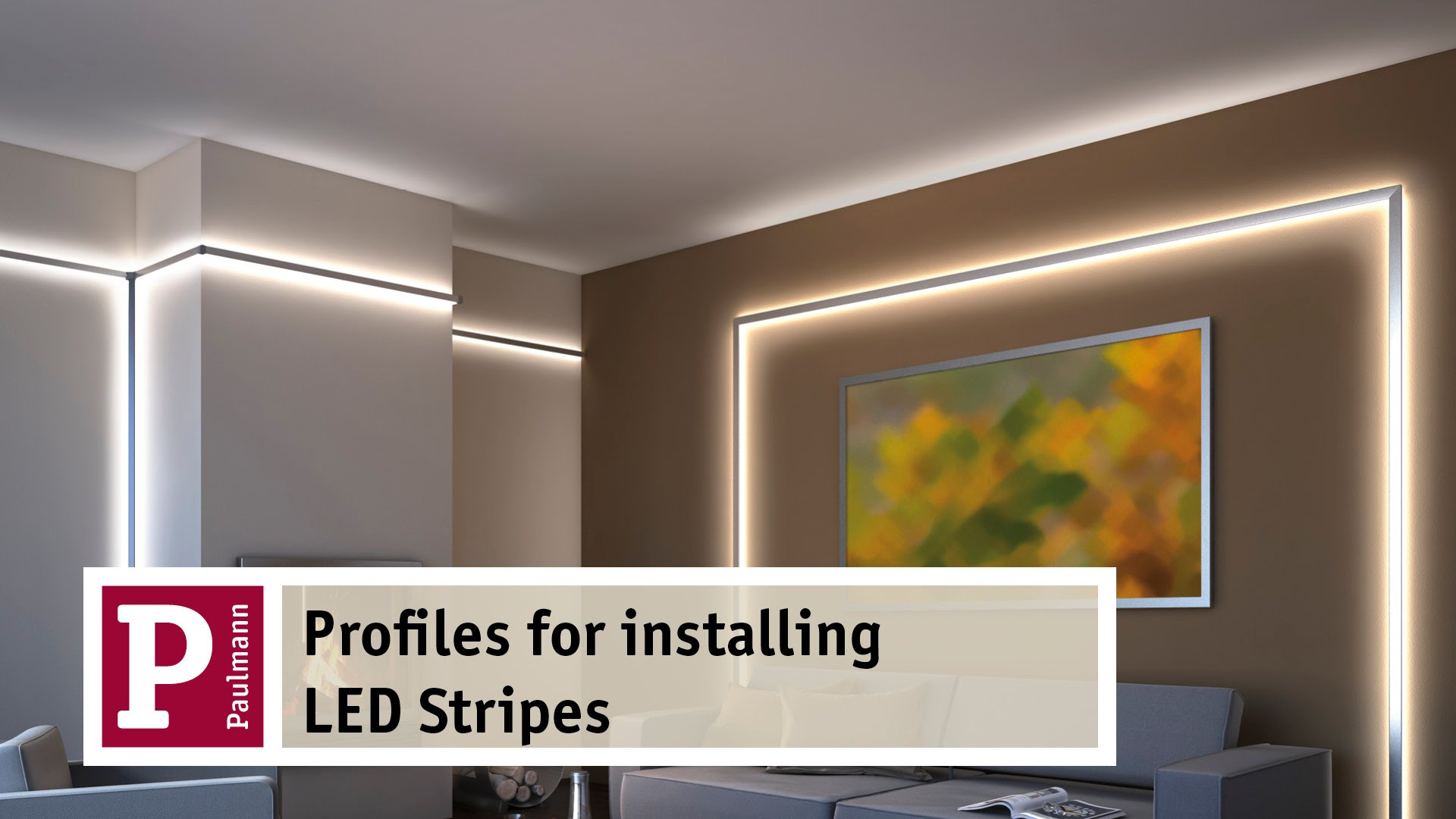 Indirect LED interior lighting aluminium profiles for indirect lighting by led strips - very easy to LBFOIYV