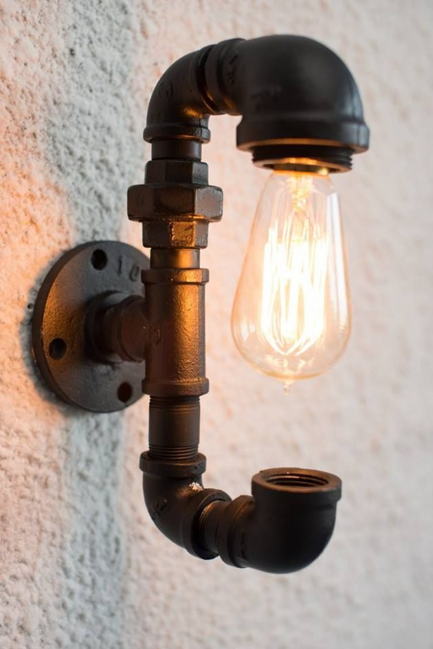 industrial lamps design #2 wall lighting fixture with spectacular light bulb HHJYCMK