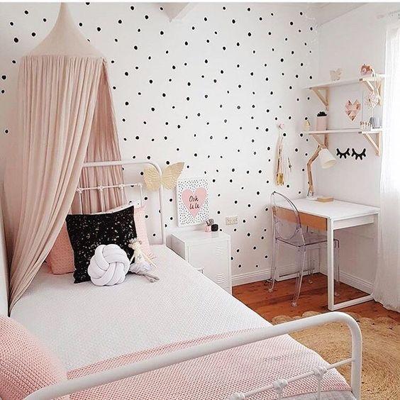 kids room decor ideas polka dot kidsu0027 room design ideas - petit u0026 small JYZMFWP