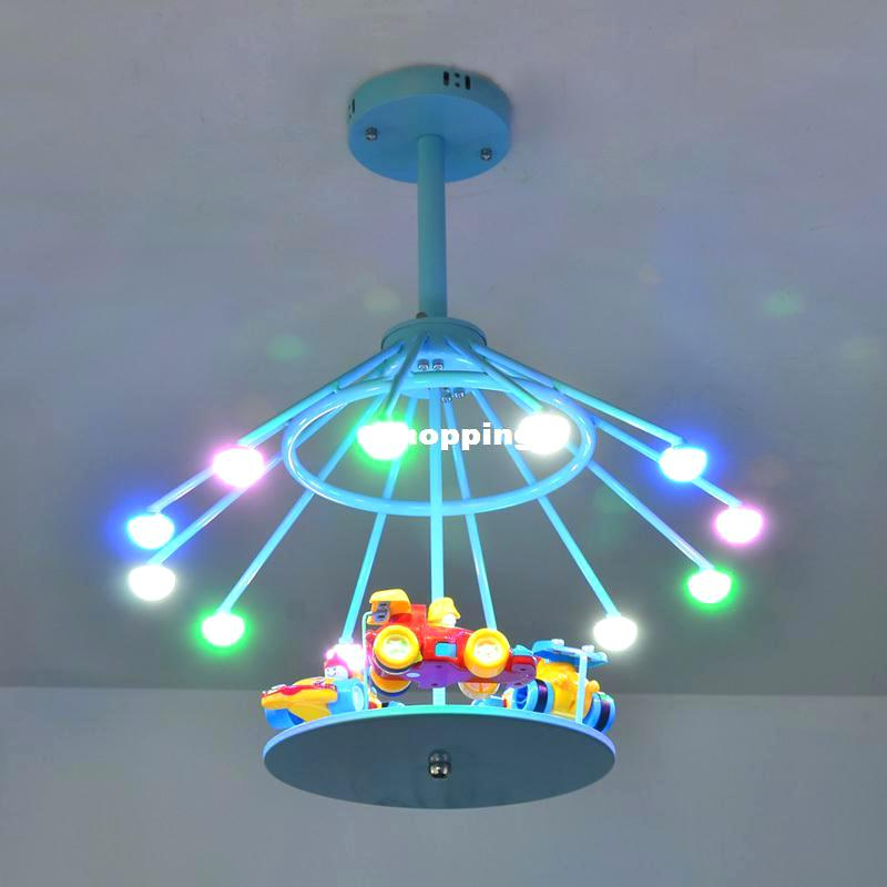 Kids Room Lamps boys room lamp merry go round children led ceiling lights kids room home UKGFSTM