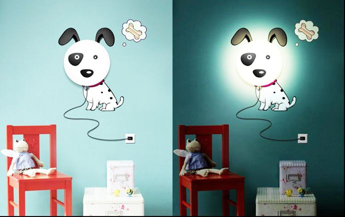 Kids Room Lamps diy lamps with sitckers: cartoons animate your kids room! NAJIGFE