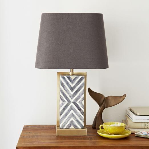 lamp for small table chevron deco table lamp - small WSIWJKG