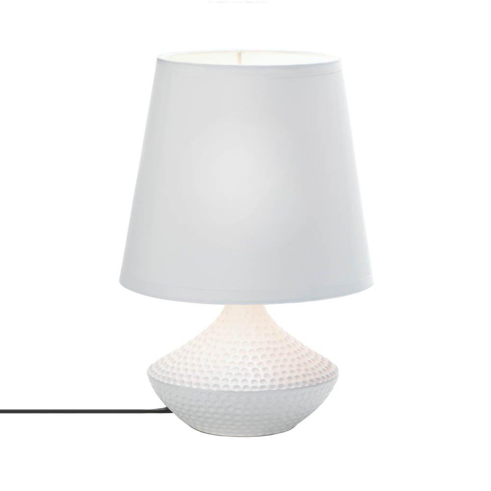 lamp for small table side table lamp white, mini modern ceramic bedside table lamps white DKKKVPX