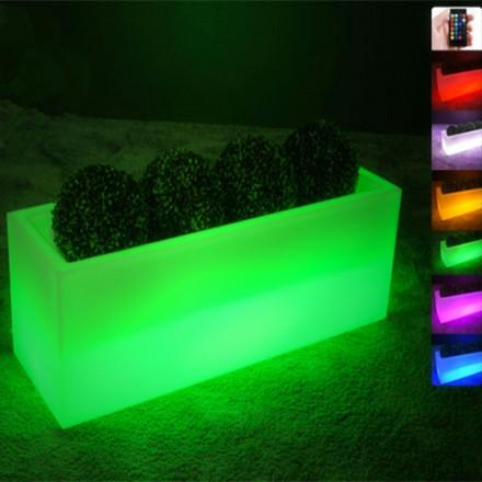 led flower pots illuminated stand long rechargeable led flower pot SNUGFDB