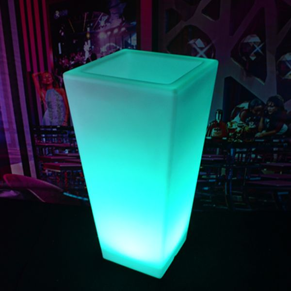 led flower pots waterproof rechargeable rgb multi color led light up flower pot planters  with AQJFIAY