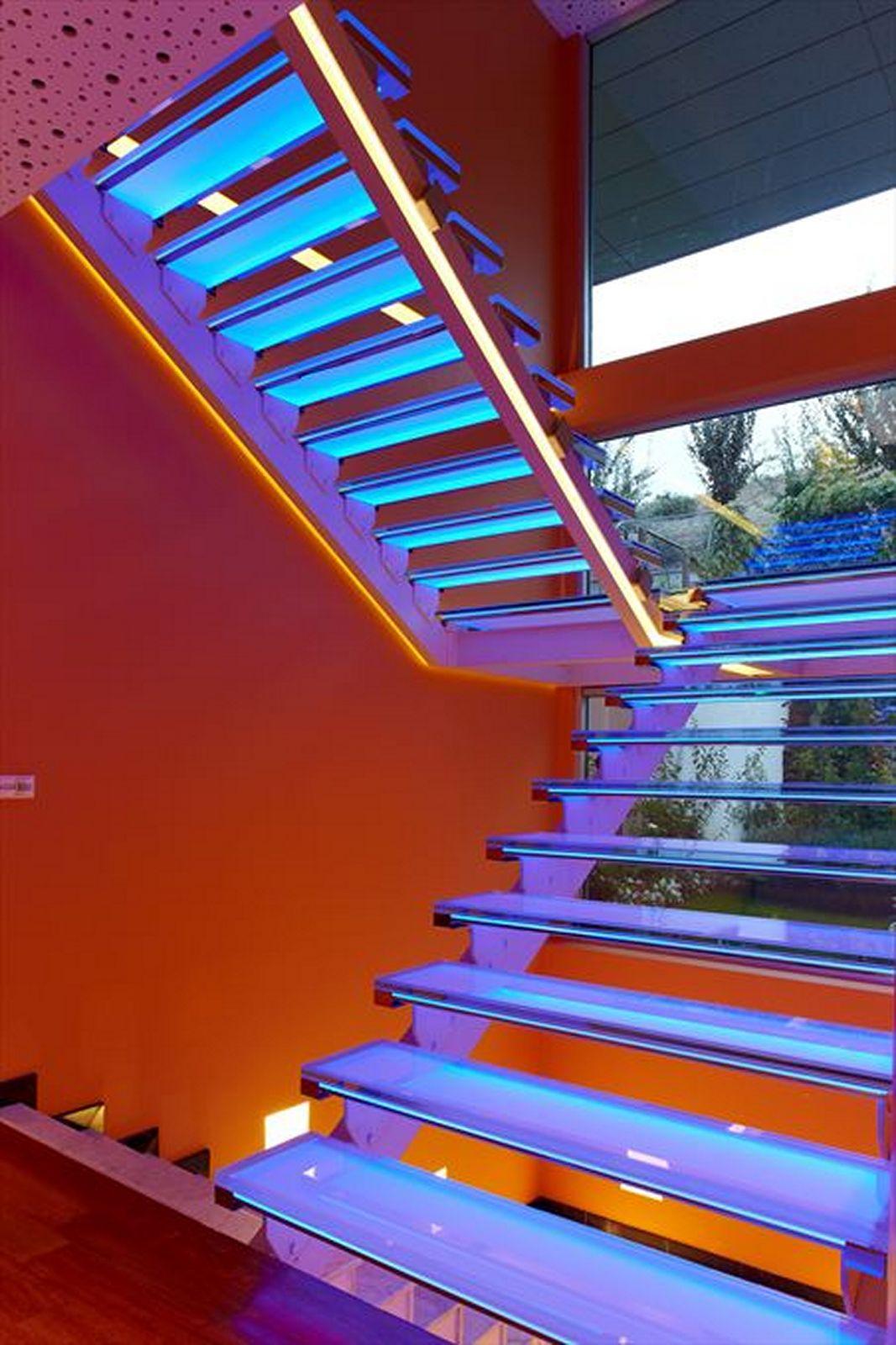 led light design for homes stair lighting led ideas IBBFLDR