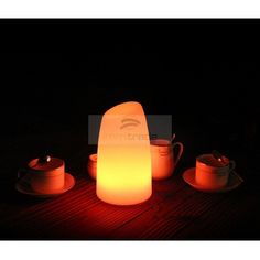led mood light table lamp (bar shape,d12xh20cmusb cable rechargeable, rgb  color change NLXWMGD