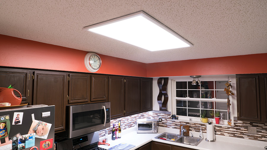 led panel kitchen lighting led panel light - 2x4 - 4,500 lumens - 40w dimmable even-glow® light DQKHAOQ