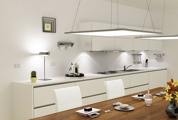 led panel kitchen lighting modern kitchen lighting hanging led panel light contemporary kitchen design ELGCFNB