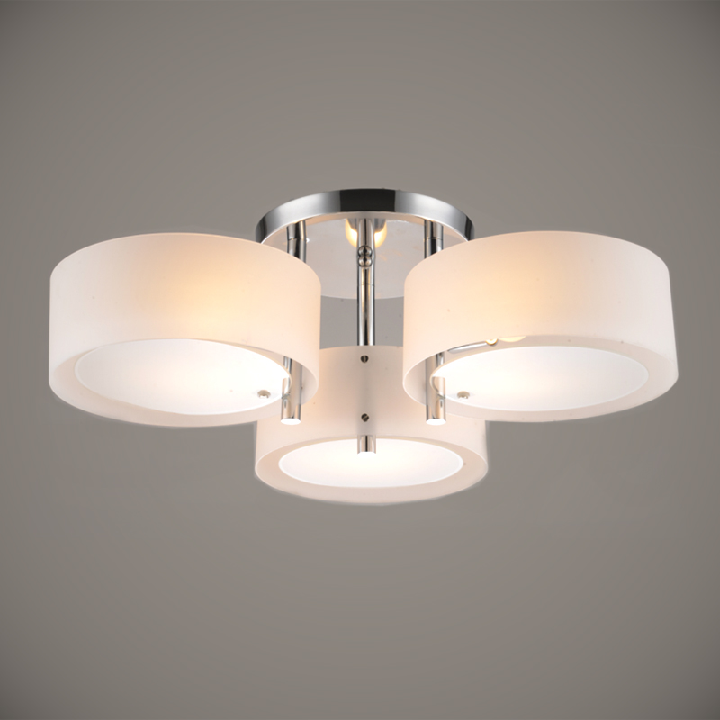 Modern Ceiling Lights modern ceiling light 3 lights e26 e27 brushed nickel acrylic glass modern OIOTZHQ