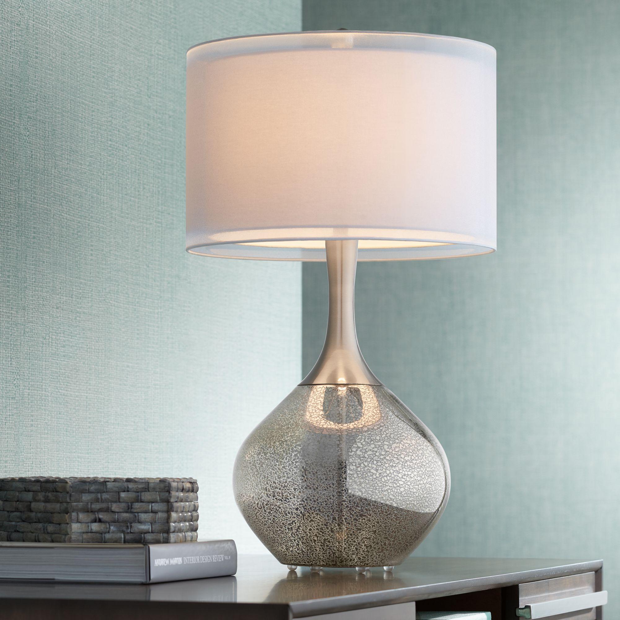 Modern Table Lamps possini euro design swift modern mercury glass table lamp CQZLBNA
