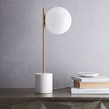 Modern Table Lamps sphere + stem table lamp - brass ... IGGPYCE