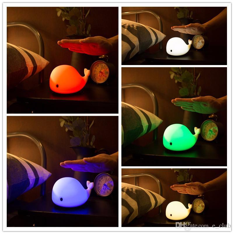 mood light table lamp 2018 one pcs sale whale night lamp usb rechargeable mood light desk night IQZGLRR