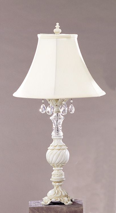 Shabby Chic style lamps lighting - decorative table lamps - shabby chic style lamp - cottage haven RETPZBN