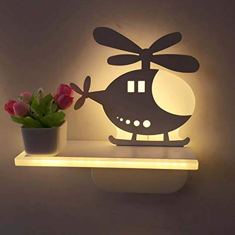 wall lamp for kids room guyue 3d helicopter lamp sign night wall light,childrenu0027s bedroom home led wall WPTCVEP