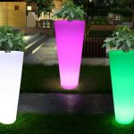 LED in the flowerpot