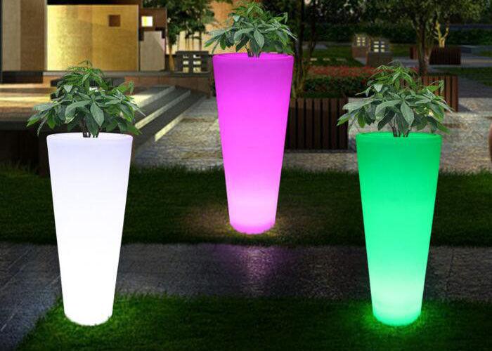 waterproof color change led flower pots , outdoor balcony light up flower LOVSJHB