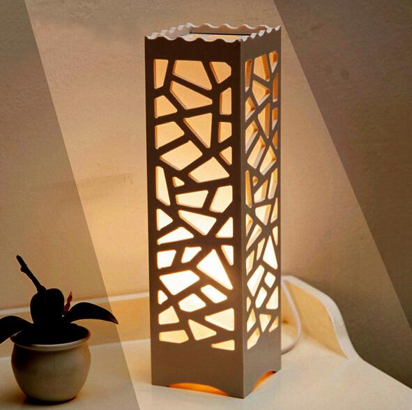 wood lamps designs modern design table lamps vintage lampshade wood plastic luminarias de mesa  lampshade BMPFWYW