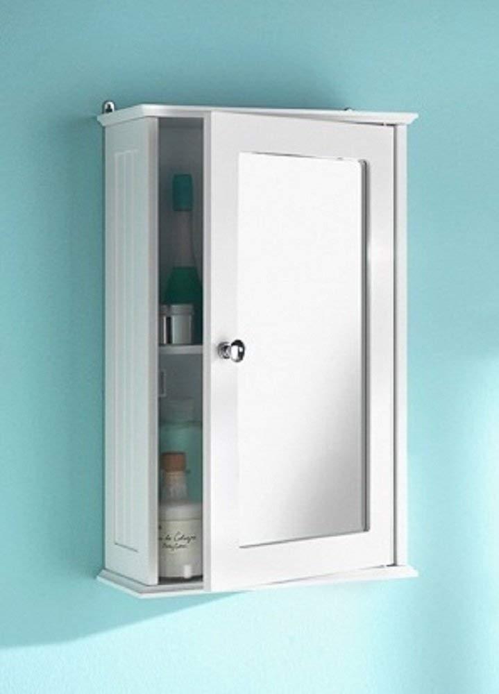 Bathroom Cabinet amazon.com: white maine single mirrored door bathroom cabinet by maine new  england inspired: KBALYFW