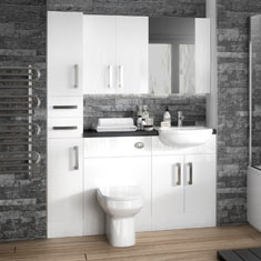 Bathroom furniture from £74.95; fitted bathroom furniture ERXEUHY