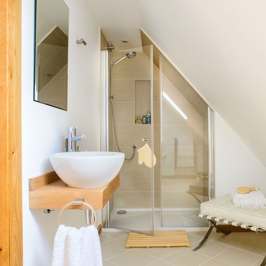 Bathrooms pitched roof decor