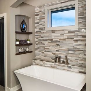 Bathtub Ideas freestanding bathtub - contemporary master beige tile and gray tile  freestanding bathtub idea KSJMDBT
