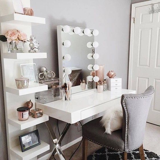 beautiful vanity iu0027m already inspired to buy a makeup mirror and a beautiful upholstered  chair, SVUKFNW