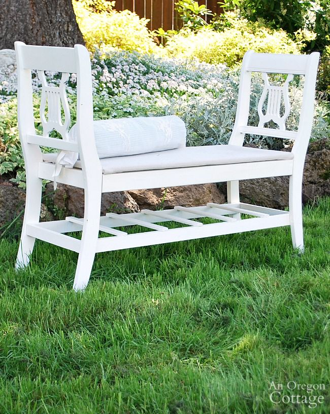 Bench ideas garden bench repurposed chairs IWBVZHB